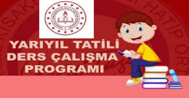 Yarıyıl Tatili Ders Çalışma Programı 2021