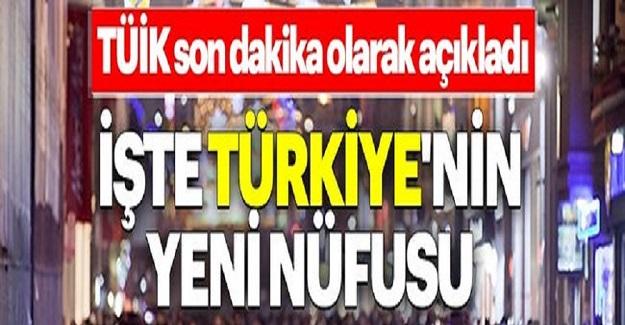 2020 Yılı Türkiye'nin En Az Ve En Fazla Nüfusa Sahip Şehri?