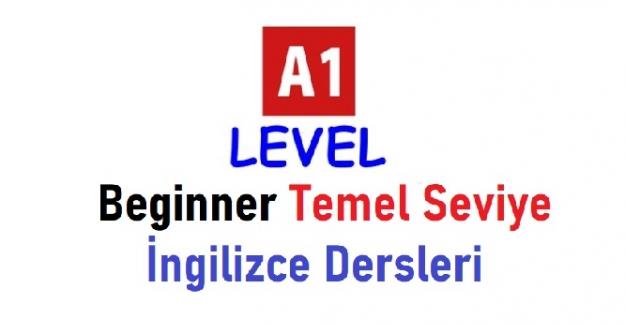 Beginner Temel Seviye İngilizce dersleri