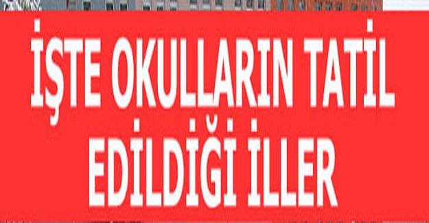 İstanbul Dahil Olmak Üzere Bir Çok İlimizde Okullar Tatil Edildi