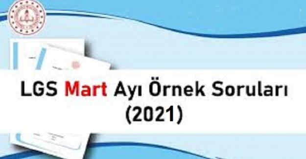 LGS 2021 MART AYI ÖRNEK SORU KİTAPÇIĞI
