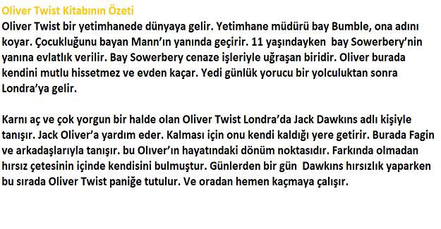 Oliver Twist Kısa Kitap Özeti