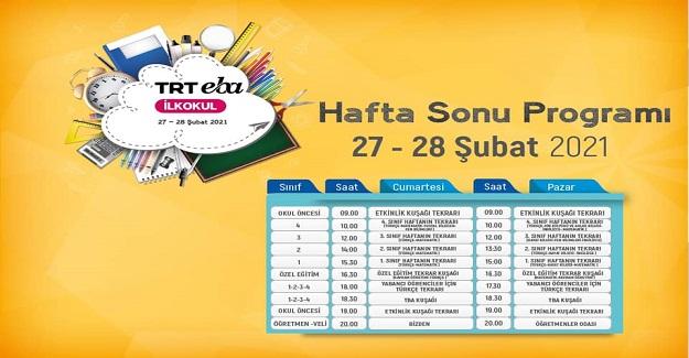 TRT EBA Kanallarında Hafta Sonu