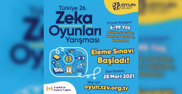 Türkiye 26. Zeka Oyunları Yarışması
