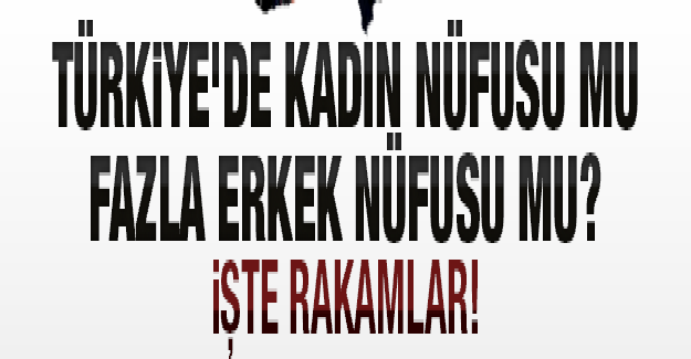 Türkiye'de Kadın Nüfusu mu? Erkek Nüfusu mu Daha Fazla?