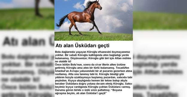 Atı Alan Üsküdar'ı Geçti Deyiminin Anlamı ve Hikayesi