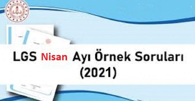 LGS 2021 YILI NİSAN AYI SORU KİTAPÇIĞI
