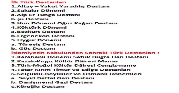 Türk Destanları Neler?