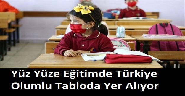 Yüz Yüze Eğitimde Türkiye Olumlu Tabloda Yer Alıyor
