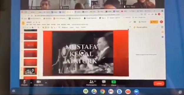 Amerika'da Uzaktan Eğitim Dersi Konusu 23 Nisan ve Atatürk Oldu