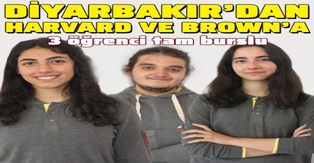 Diyarbakır'lı 3 Öğrenci, Tam Burslu Olarak Harvard ve Brown'a Kabul Edildi