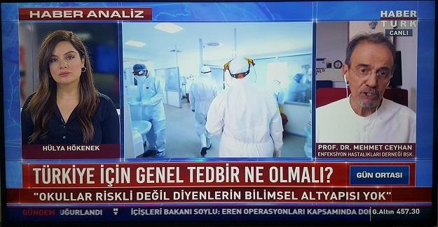 """Prof.Dr. Mehmet Ceyhan , """"Okullar Riskli Değil Diyenlerin Bilimsel Alt Yapısı Yok"""""""