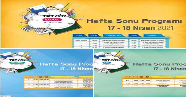 TRT EBA Kanallarında Hafta SonuProgramları