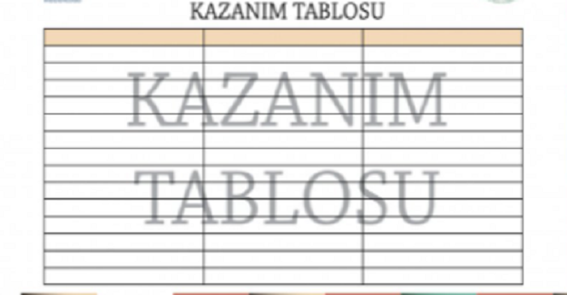DERS KAZANIM ÇİZELGESİ