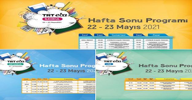 EBA TRT TV Hafta Sonu Güncel Yayın Kuşağı