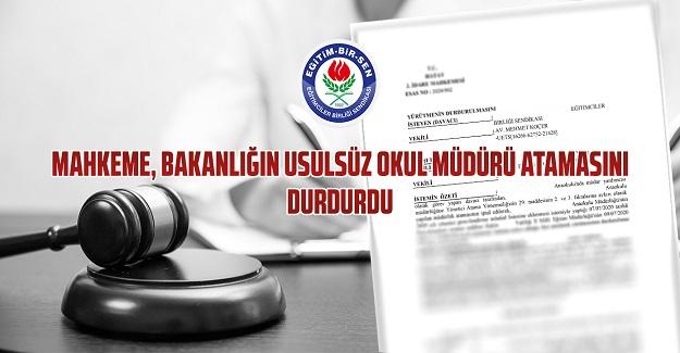 Mahkeme usulsüz okul müdürü atamasını durdurdu