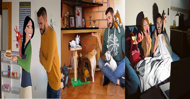 Öğretmen Disney Karakterleriyle Yaşamanın Nasıl Olduğunu Göstermek İçin Fotoğraflar Çekti