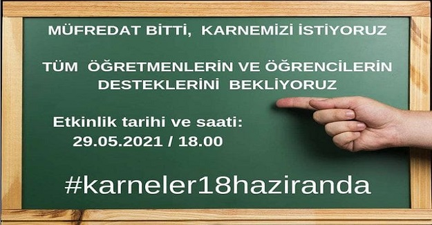 """Öğretmenler Twitterda """"#karneler18haziranda"""" Verilsin Kampanyası Düzenliyor"""