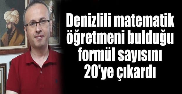 Matematik Öğretmeni Ethem Deynek, Bulduğu Formül Sayısını 20'ye Çıkarttı