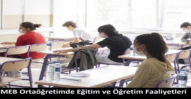 MEB Ortaöğretimde Eğitim ve Öğretim Faaliyetleri: Resmi Yazı