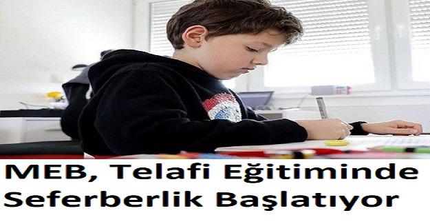 MEB, Telafi Eğitiminde Seferberlik Başlatıyor