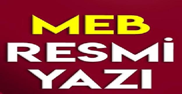 MEB Temel Eğitim Genel Müdürlüğünden Resmi Yazı