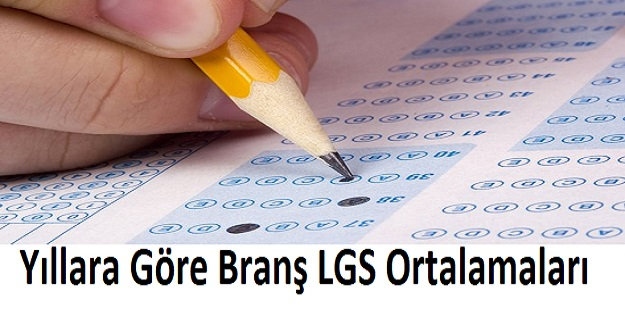 Yıllara Göre Branş LGS Ortalamaları