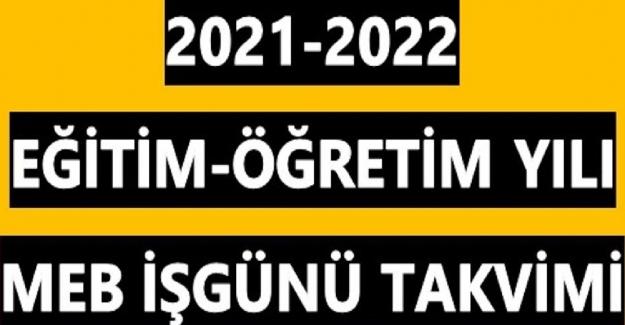 2021-2022 MEB İş Günü Takvimi