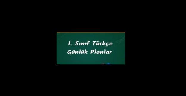 2021-2022 Eğitim Öğretim Yılı 1.Sınıf Türkçe Ders Planı
