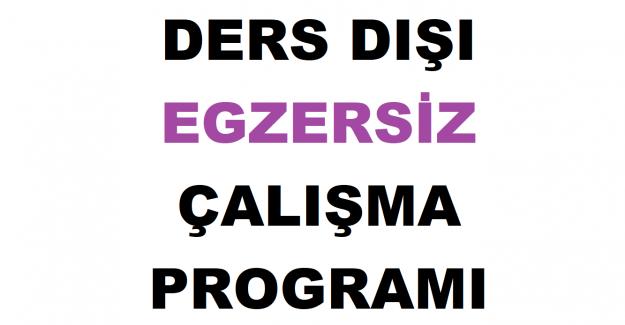 2021-2022 Eğitim Öğretim Yılı Ders Dışı Egzersiz Çalışma Programı İle İlgili Başvuru Duyurusu