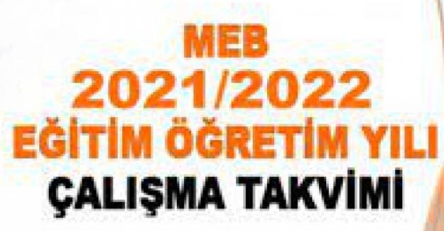 2021-2022 EĞİTİM ÖĞRETİM YILI (GÜNCEL) İŞ TAKVİMİ