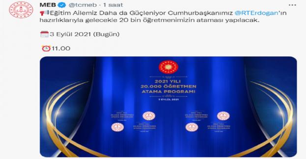 2021 Yılı 20 Bin Sözleşmeli Öğretmen Ataması Gerçekleştirildi