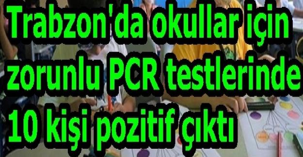 Bir Okulda Zorunlu PCR Testlerinde 10 Kişi Pozitif Çıktı