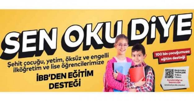 """Çocuğu Okula Giden Aileler Dikkat! """"Sen Oku Diye"""" Eğitim Bursu Veriliyor"""