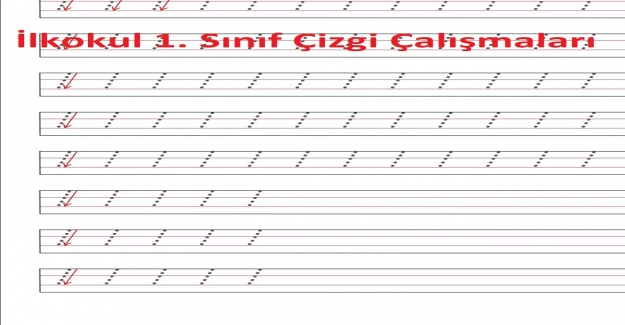 İlkokul 1. Sınıf Çizgi Çalışmaları