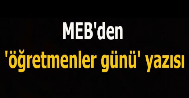 MEB'den Öğretmenler Günü İçin Genelge