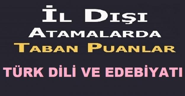 Türk Dili ve Edebiyatı 2021 İl Dışı Atama Puanları