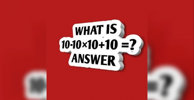 What is 10-10×10+10?