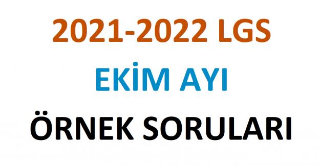 2021-2022 LGS Ekim Ayı Örnek Soruları