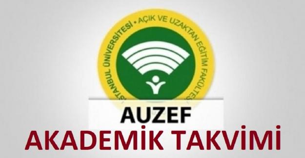 AUZEF 2021-2022 Akademik Takvimi
