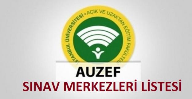 Auzef Sınav Merkezleri Listesi 2021 2022