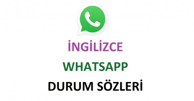 İngilizce WhatsApp Durum Sözleri