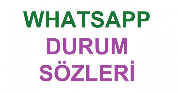 Yaratıcı Whatsapp Durum Sözleri