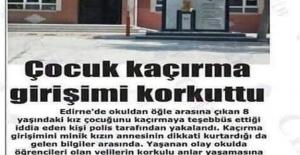 Edirne'de okuldan öğle arasına çıkan...