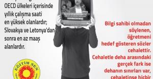 Öğretmeni Hedef Gösteren Sözler Cehalettir!