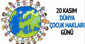 20 Kasım Dünya Çocuk Günü Kutlu Olsun