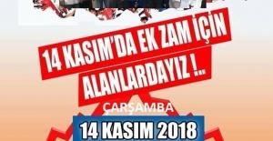 Türk Eğitim Sen Ek Zam talebi için 14 Kasım'da Alanlarda
