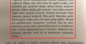 En önemli bilim adamlarından Ordinaryus Prof. Dr. Cahit Arif, 60 yıl önce Türk bilim camiasını şu sözlerle özetlemiş