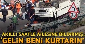 Down sendromlu öğrencileri taşıyan minibüs kaza yaptı.