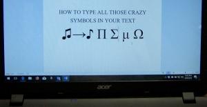 Klavyede Olmayan Karakterler ve Semboller